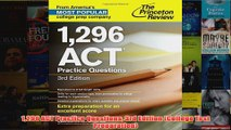 Download PDF  1296 ACT Practice Questions 3rd Edition College Test Preparation FULL FREE