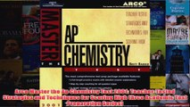 Download PDF  Arco Master the Ap Chemistry Test 2001 TeacherTested Strategies and Techniques for FULL FREE