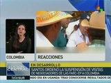 Colombianos piden a gob. resolver impasse con FARC mediante el diálogo