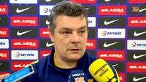 FCB Handbol: Valoraciones de Xavi Pascual a la previa del FC Barcelona Lassa - Pick Szeged [ESP]