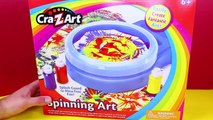 Cra-Z-Art Spinning Art Painting Set CHALLENGE Toy Review Kid Friendly Art Competition DisneyCarToys