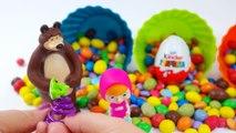 Kinder oeufs surprise Masha! Macha et lOurs de langlais! Des jouets et des jeux pour les enfants - 2016