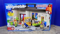 Playmobil Take Along Hospital Center ❤ Doctors Check Up on Pregnant Frozen Anna, Spidey & Peppa