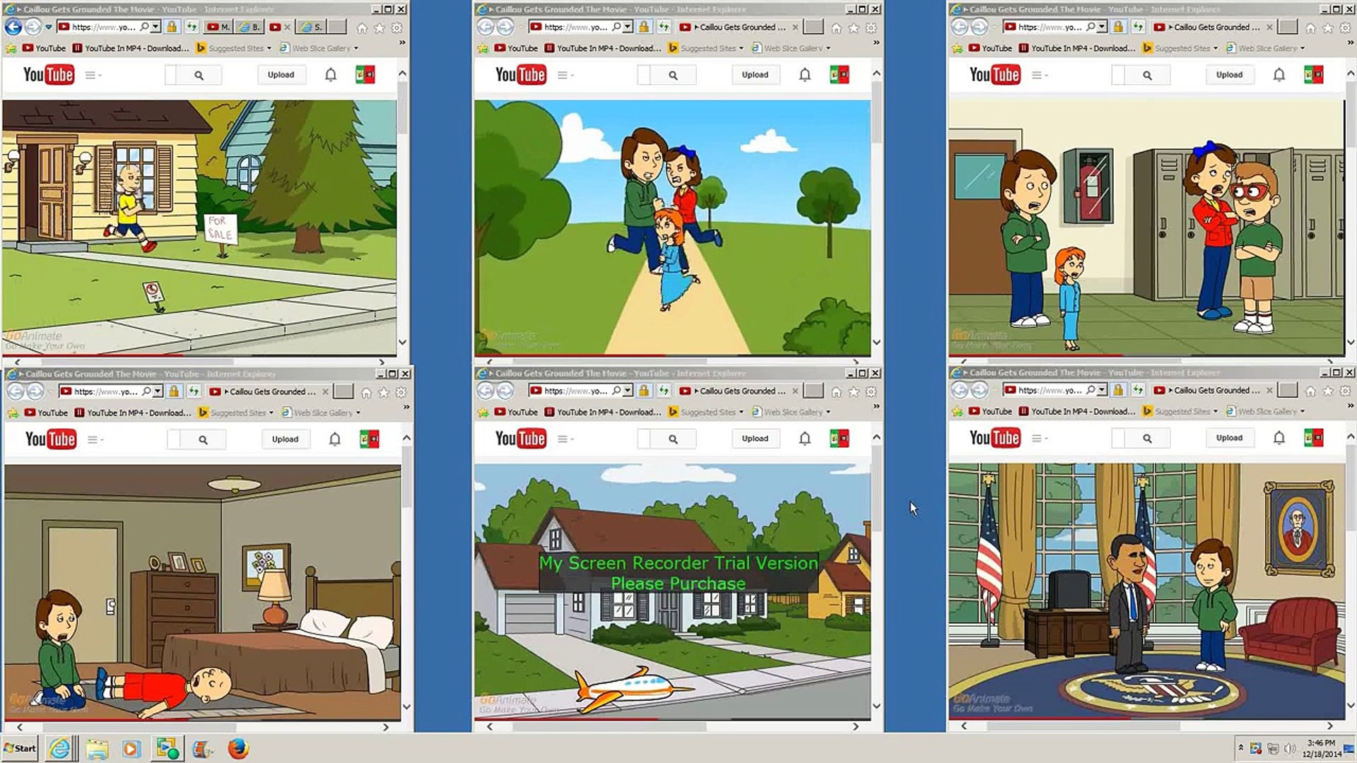 Multiple Caillou Gets Grounded the Movie Full