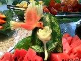 Esculturas em melancias II - Watermelon Carving - Carving Fruits - Esculturas em frutas e legumes