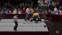 WWE 2K16 brock lesnar v roman reigns v dean ambrose