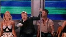 "Nastia & Sasha Charleston Andy Grammer sings ""Honey I'm home"" Subway  routine with injured Derek performing as well!"