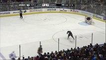 Ben Scrivens robs Marcus Foligno. Toronto Maples Leafs vs Buffalo Sabres 4312 NHL Hockey
