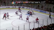 Mike Smith save on Morrison. Phoenix Coyotes vs Chicago Blackhawks 42312 NHL Hockey