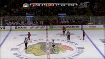 Mike Smith saves in 1st period. Phoenix Coyotes vs Chicago Blackhawks 42312 NHL Hockey
