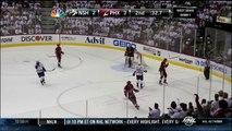 Mike Smith stops Gabriel Bourque. Nashville Predators vs Phoenix Coyotes Game 1 42712 NHL Hockey
