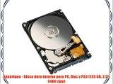 Générique - Disco duro interno para PC Mac y PS3 (120 GB 2.5 5400 rpm)