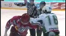 Ales Remar(hk jesenice) Vs Ales Music(hdd olimpija) hockey fight