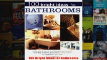 Download PDF  100 Bright Ideas for Bathrooms FULL FREE