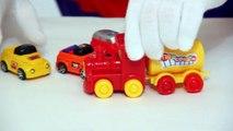 Çocuklar için eğlenceli film Palyaço Dima Tren ve arabalar
