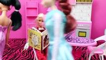 Barbie Pregnant with Prince Hans, Brunette Elsa and Jasmine Pregnancy Announcements DisneyCarToys