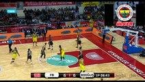 Fenerbahçe - Darüşşafaka Doğuş FIAT Türkiye Kupası Final maçı |  1. YARI | 67-65 | 21.02.2016