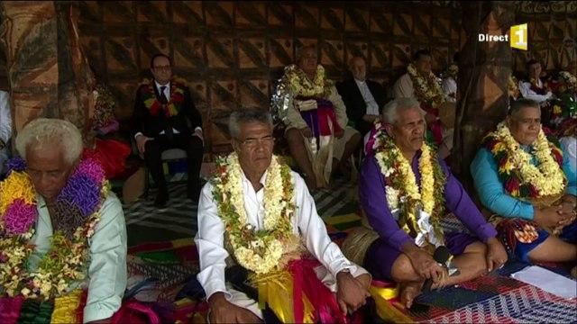 François Hollande à Wallis : la cérémonie du kava