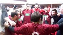 Dans les vestiaires après la victoire de l'ASVA contre Saint-Florentin