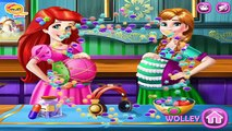 Disney Ariel and Anna Frozen Pregnant BFFS - Take Care and Dress Up The Disney Princesses Girls Game