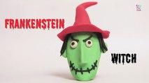 Play Doh Halloween Frankenstein Witch | Frankenstein Witch | How To Make A Frankenstein Witch