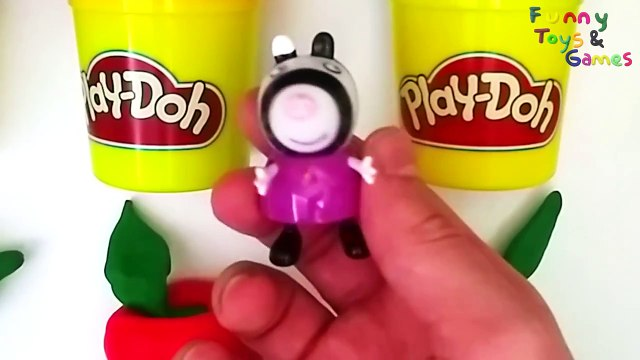 Learn Fruit Names And Colors With Peppa Pig Toys And Play Doh