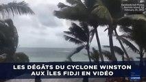 Les dégâts du cyclone Winston aux îles Fidji en vidéo