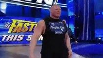 W.W.ENTERTAINMENT Brock Lesnar Attacks Dean Ambrose , Roman Reigns WWE Smackdown - WRESTLE MANIA