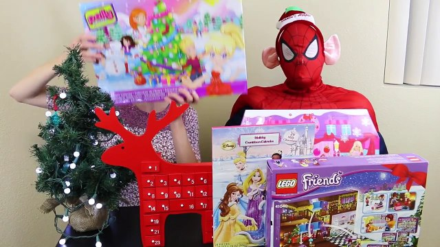 Surprise Toys ADVENT CALENDAR DisneyCarToys 24 Days of Christmas Barbie Lego Shopkins Polly Pocket 2