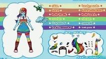 My Little Pony Equestria Girls Rainbow Rocks Rainbow Dash Cosplay Costume Dress Up Game