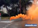 Les pompiers manifestent devant la préfecture de Nice