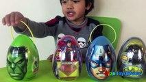 Easter Eggs Surprise Opening 2016 Marvel SuperHeroes Toys Batman vs Superman Hulk Iron Man Advenger