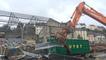 Quartier de la gare à Quimper : premières démolitions