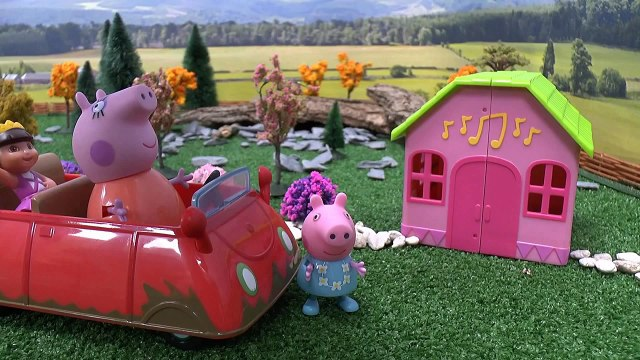 Peppa Pig Dora The Explorer Piano Accident Story Episode Dance Studio Minnie Mouse Shopkins Toys