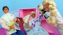 Barbie Pregnant Baby Birth Story 4 Doctor Elsa DisneyCarToys Disney Frozen Princ