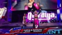 Layla Natalya vs Aksana Alicia Fox WWE Main Event (17/07/2013)