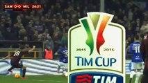 Сампдория 0-2 Милан - Кубок Италии 2015-16 - 1-8 финала - Обзор матча 17.12.2015