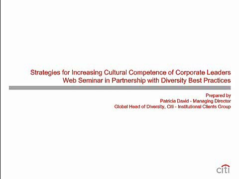 Strategies for Increasing Cultural Competence