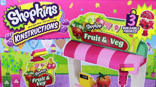 NEW Shopkins Mix & Match Toys Kinstructions Lego Shopville Fruit & Veg Stand Mall Playset Town