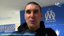 """#OMASSE  Battles : """"Je suis parti trop tôt de l'OM"""" Laurent Battles, entraîneur adjoint à St Etienne, revient pour Le Phocéen sur sa carrière à l'OM.   #TeamOM"""