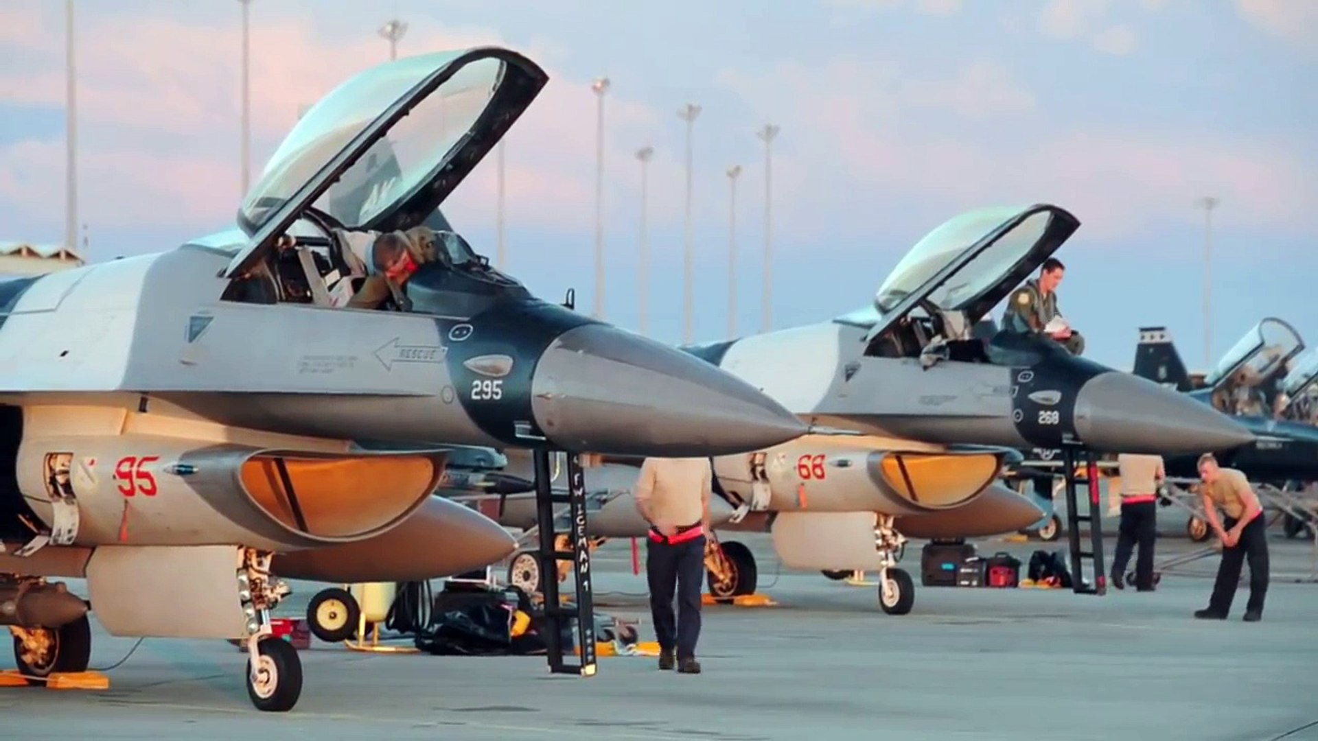F 16, F 22, F 35 Jets Launch Air Combat Exercise