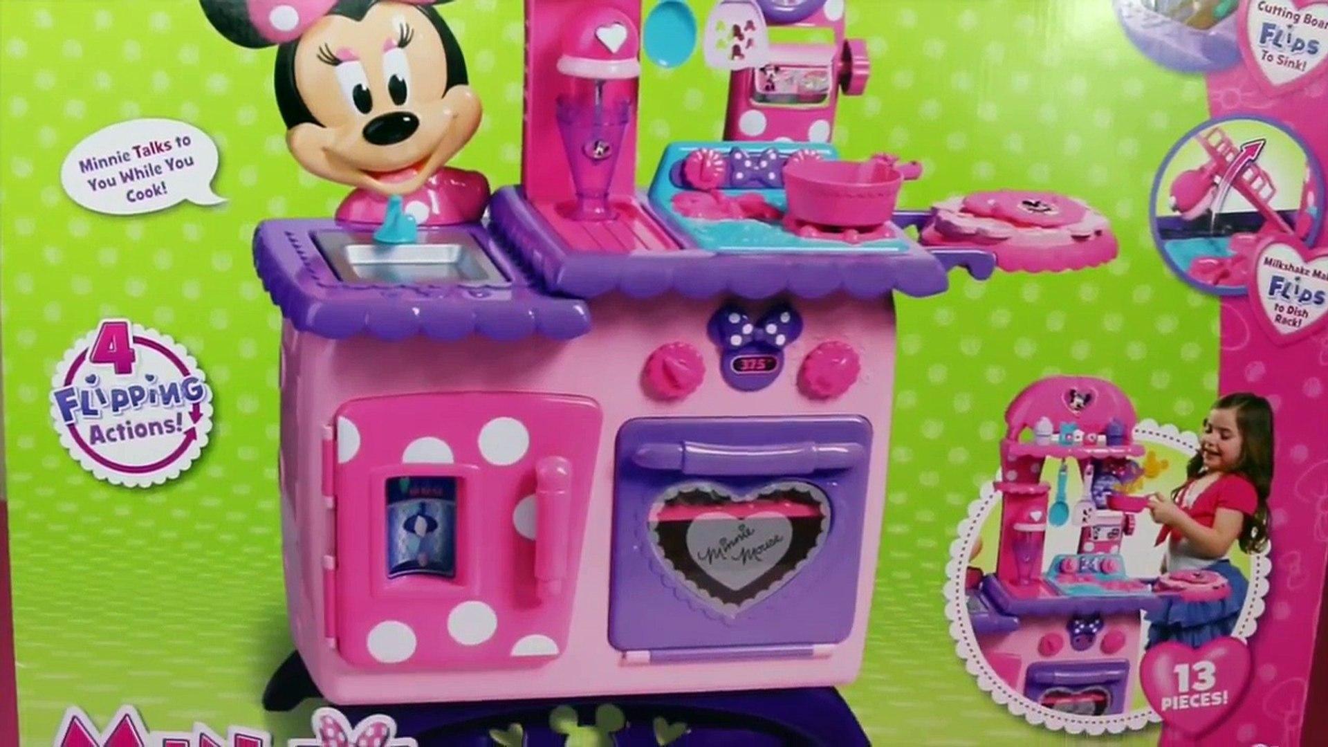 Minnie Mouse Kitchen Playset Flipping Fun Kitchen Cupcakes And Play Food Toys Disneycartoys Video Dailymotion