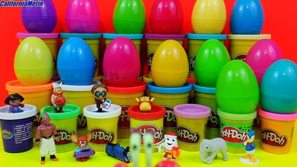 25 Surprise Eggs Disney Dragon Ball Kinder Surprise Pokemon SpongeBob Batman