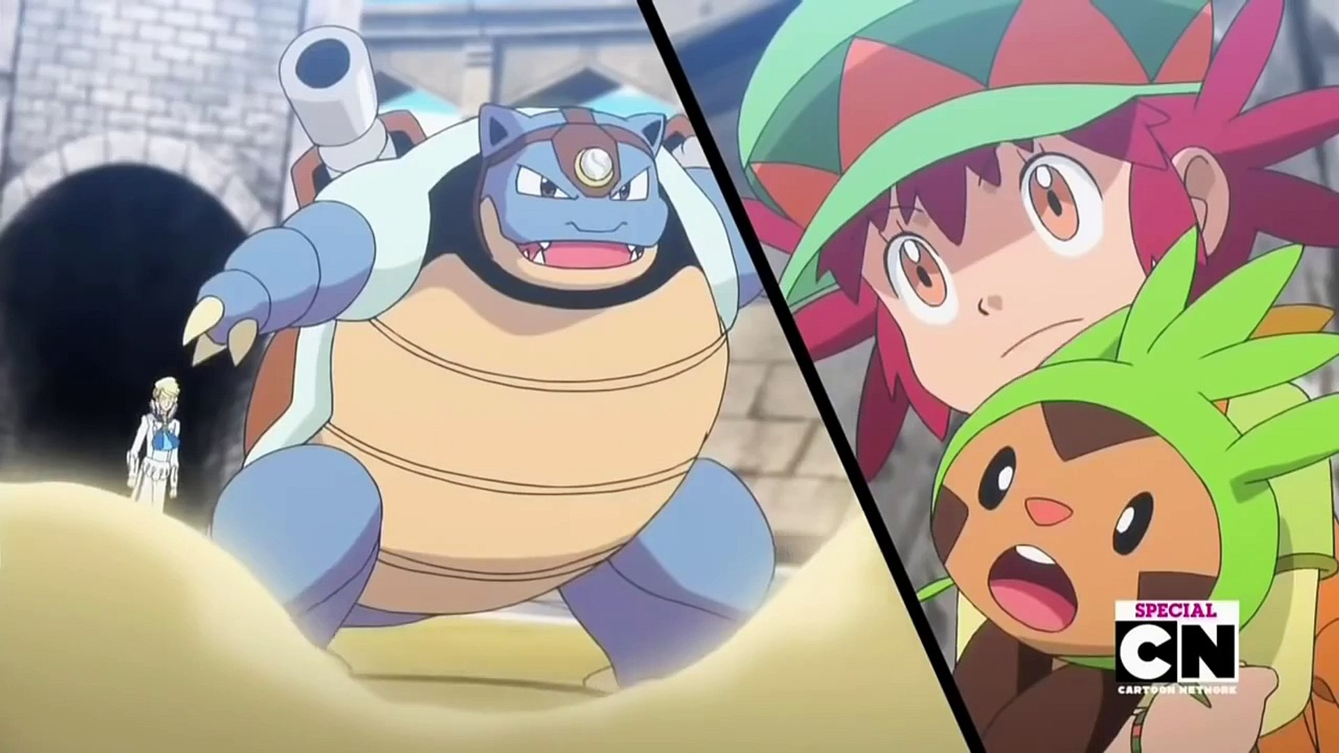 Pokemon XY Special - Mega Blastoise vs. Mega Charizard X - Full Fight HD -  Dailymotion Video