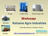 FRP Tanks, HDPE Tanks, PP Tanks, Scrubber System, Chemical Storage Tanks