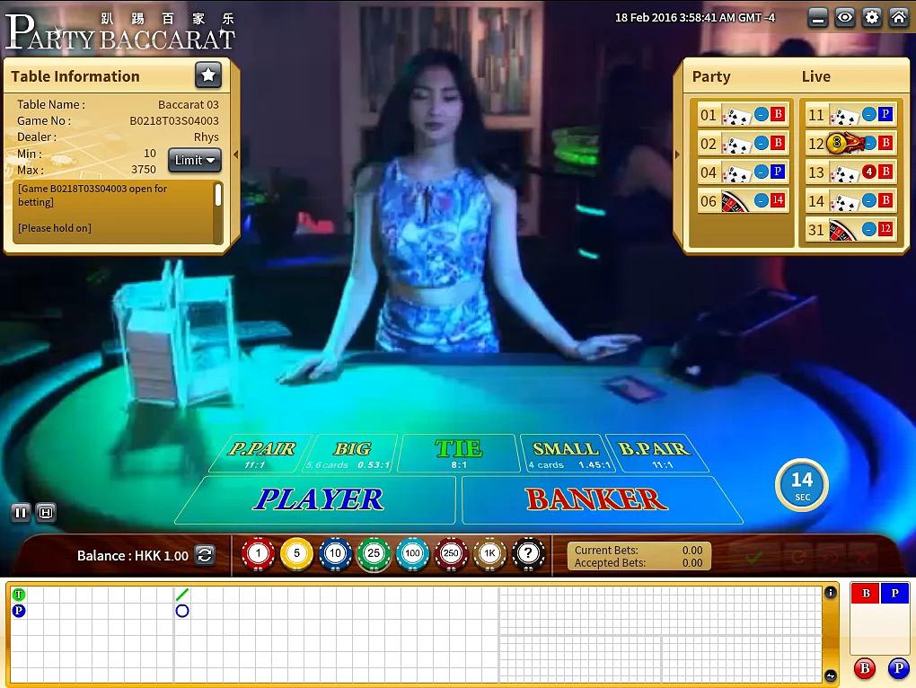 PARTY BACCARAT IBCBET Casino | Bigchoysun.com | Online Live Casino Malaysia