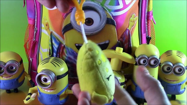 Minions Suprise Backpack! Minions Movie Toys Blind Bags Shopkins Crayola Color Wonder ! FUN!