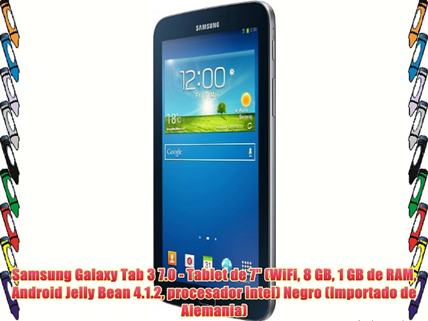 Samsung Galaxy Tab 3 7 0 - Tablet de 7 (WiFi 8 GB 1 GB de RAM Android Jelly  Bean 4 1 2 procesador