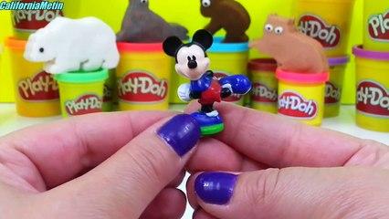 Play Doh Animals Eggs Surprise Frozen Spiderman Disney Cars Thomas & Friends Mickey