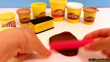 Play Doh How to Make Playdough Neapolitan & Chocolate Biscuit